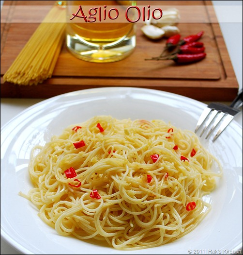 Aglio olio Recipe