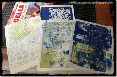 First Gelli Plate Trials
