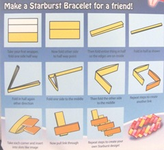 candy wrapper bracelet instructions