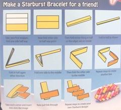 candy wrapper bracelet instructions