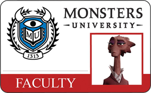 Dean Hardscrabble Monsters University Faculty Identification Card