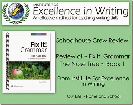 IEW Fix It Grammar Review Book 1 ~ lighthousechristiannc.blogspot