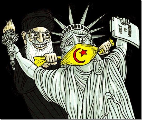 Sharia Muzzles Lady Liberty
