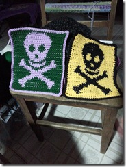 skulls n crossbones in two colors