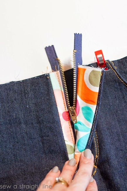 zipper fly jeans sew along sew a straight line-33