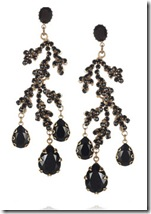 Bijoux Heart Black Coral Earrings