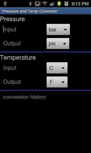 Pressure and Temp Converter