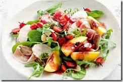 2.Chicken Liver Salad with Raspberry Vinaigrette