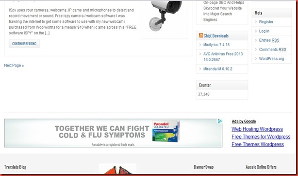 adwords for panadol australia