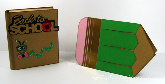 Back to School Blog Hop. SnapDragon Snippets. Book Gift card holder. Pencil Card. Ruthie Lopez. My Hobby My ARt