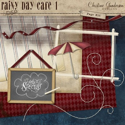 Rainy Day Cafe 1 Page Kit