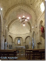 Interior de la iglesia románica de Najurieta - Valle de Unciti