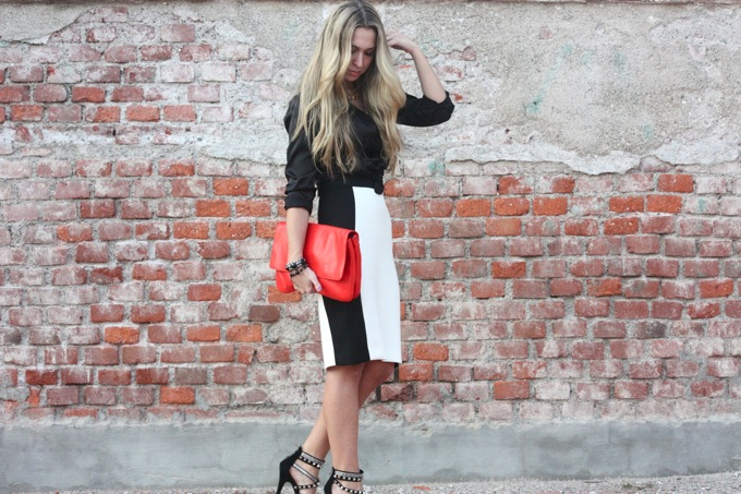 pencil skirt outfit, silk shirt