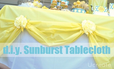 diy sunburst tablecloth