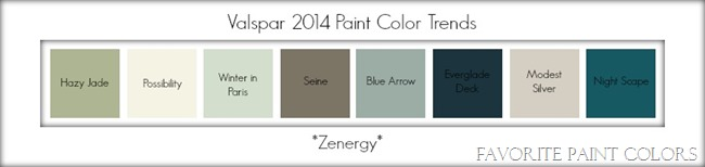 Valspar 2014 paint color trends - zenergy