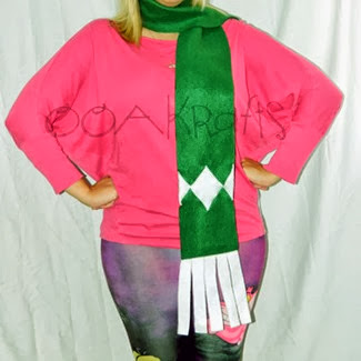 Green Power Ranger Scarf from OOAKrafts