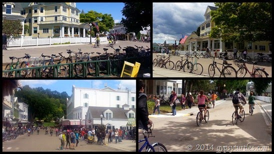 Bicycles on Mackinac Island