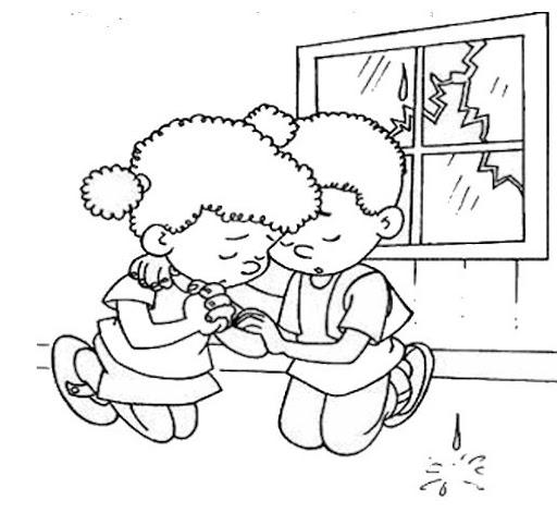 Dibujos para colorear la oracion - Imagui