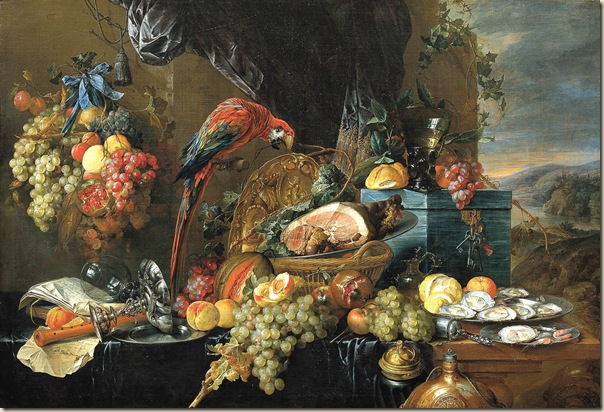 Jan Davidsz de Heem, Nature morte au perroquet