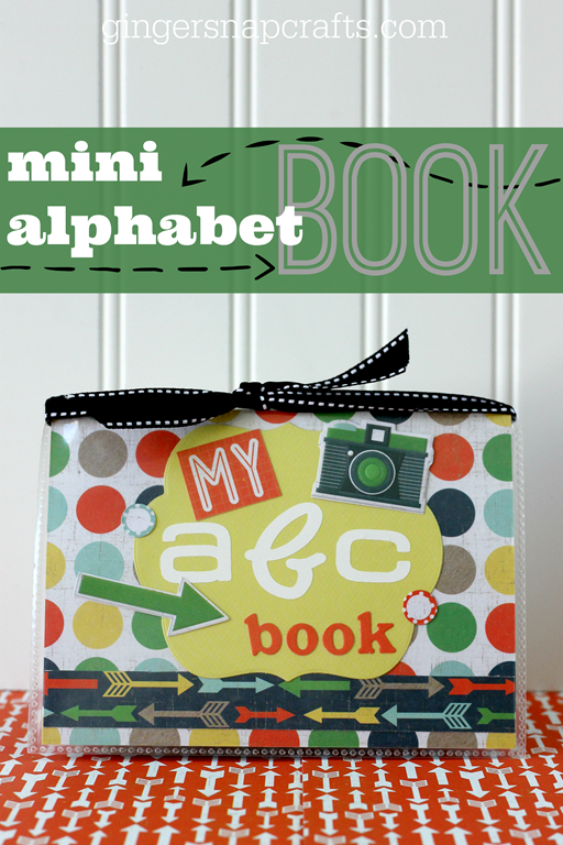 Mini Alphabet Book at GingerSnapCrafts.com #wermemorykeepers #lifestylestudios #papercraft #tutorial