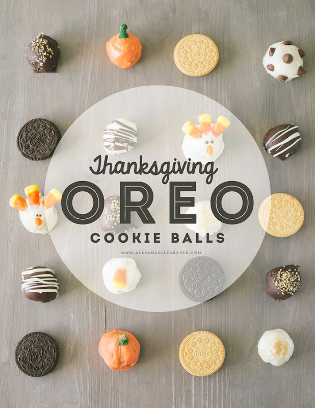 Thanksgiving Oreo Cookie Balls