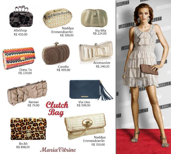Bolsas Clutch para valorizar o look. Confira 10 sugestões para o Fim de Ano.