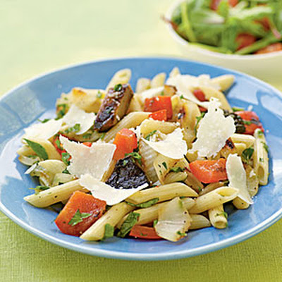 Herbed Penne with Simple Grilled Vegetables
