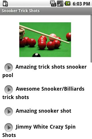 Snooker Trick Shots