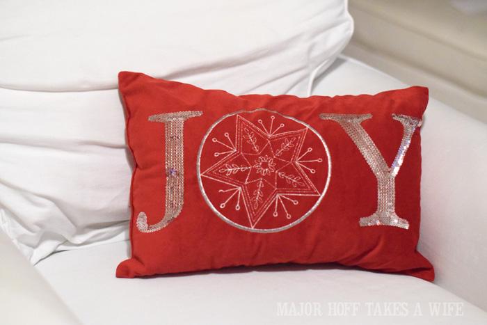 Red JOY pillow