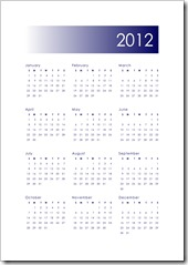 2012 Calendar A - Navy - 5x7 - Sprik Space