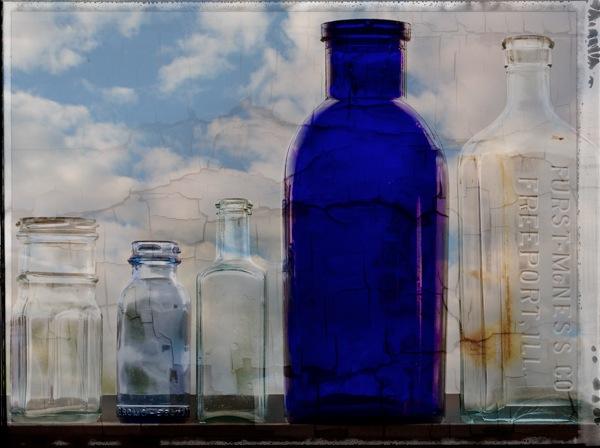 Bottles sky