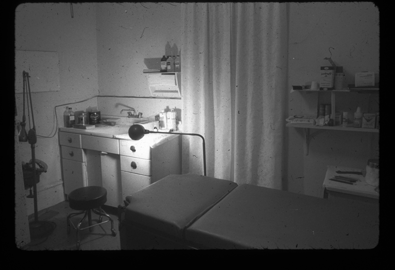 Gay Community Services Center (GCSC) examination room. 1971-1975