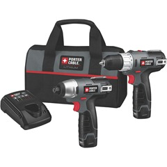 Porter-Cable PCL212IDC-2 12-Volt Max Compact Lithium-Ion 2-Tool Kit