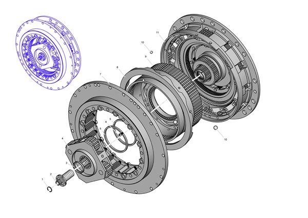 Иллюстрация сцепления для каталога деталей и сборочных единиц