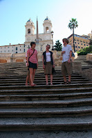 The gang on the Spanish steps