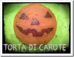 Torta di carote halloween