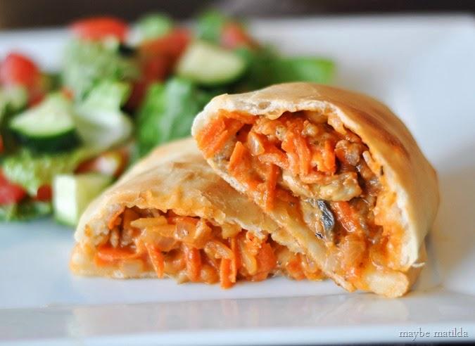 Sausage and Veggie Calzones // www.maybematilda.com