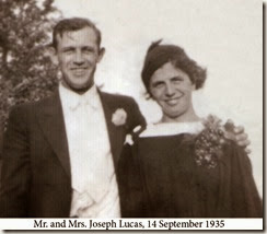 Mr and Mrs Joseph Lucas, 14 Sept 1935