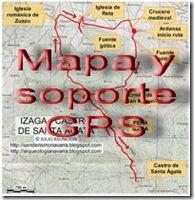 Mapa y soporte GPS - Ruta hoces de Holtzarte