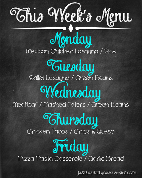 September Week 4 Meal Plan