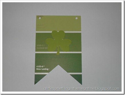 Shamrock Paint Chip Banner Tutorial Step 3
