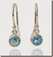 Blue Topaz Drop Earrings by Lilia Nash in Silver or 18ct Gold