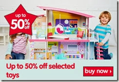 50% off selected toys 28-11-2013