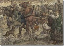 Leo_Gestel_Uittocht_Belgische_Vluchtelingen_1914