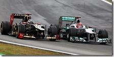 Raikkonen e Schumacher