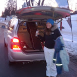 unloading the car at glen eden in Milton, Ontario, Canada
