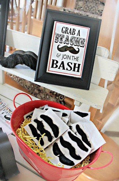 mustache bash adult birthday party ideas