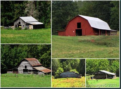 NC barns collage