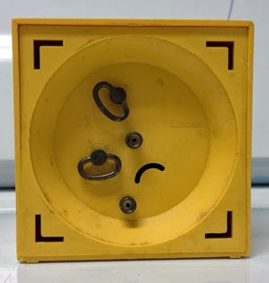Bradley alarm clock winding mechanism