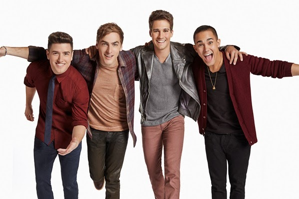 Pictured: Carlos Pena, Logan Henderson, James Maslow, Kendall Schmidt in BIG TIME RUSH on Nickelodeon.  Photo: (Sam Jones)/Nickelodeon. © 2012 Viacom, International, Inc. All Rights Reserved.